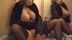 Big boobed mommy masturbating in front of mirroro