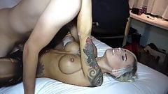 hot german blonde nice fake titis fucked hard - cum on ass