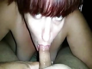 Mature redhead shows that she too can suck cock