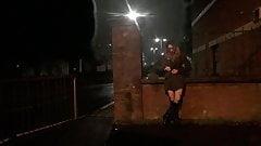 Themidnightminx public flashing in fishnet tights