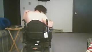 Disabled camgirl pussy play