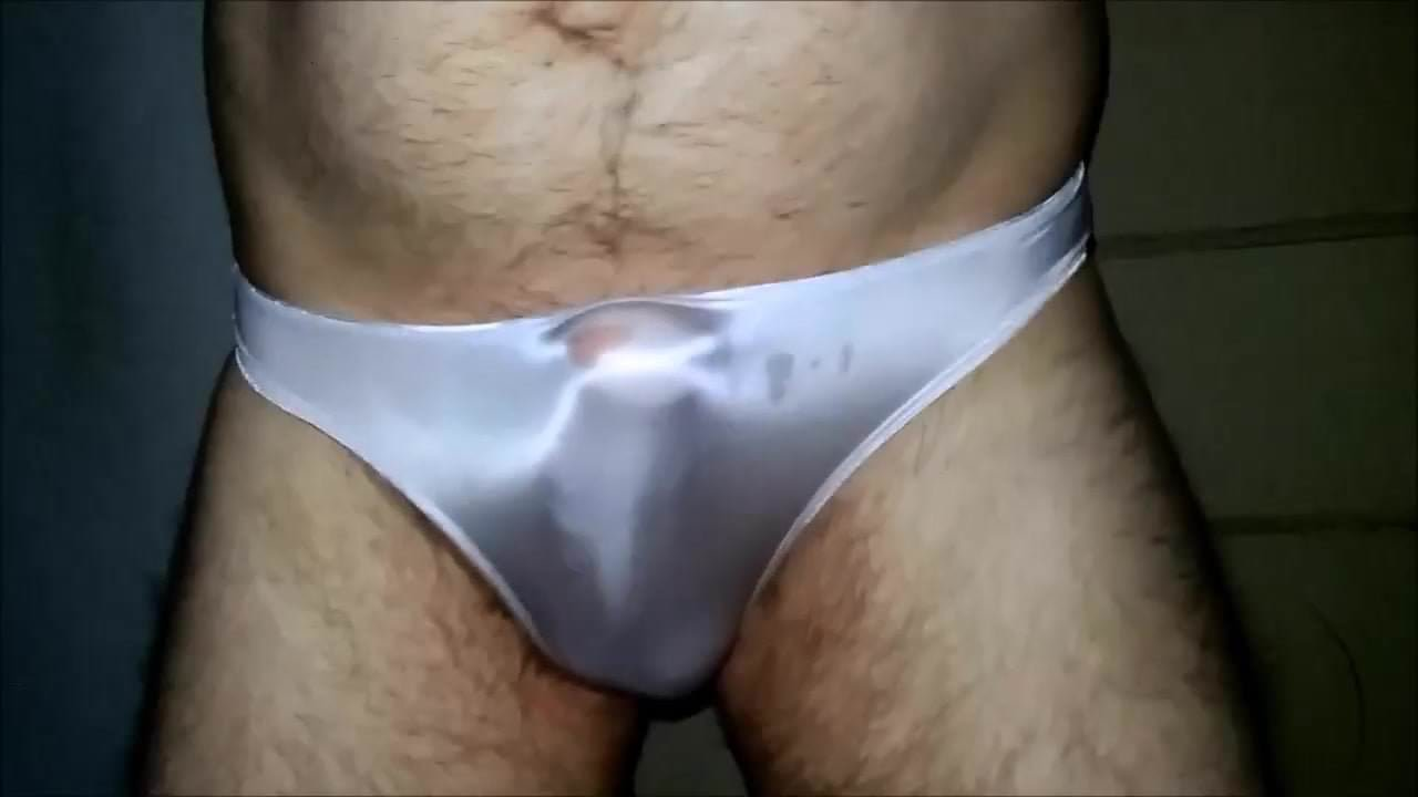 Sheer men panties wearing