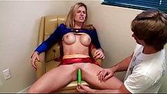 Supergirl  weakens by Kryptonite dilo