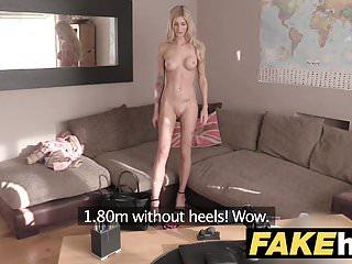 Fake Agent UK Blonde orgasms from hard finger banging