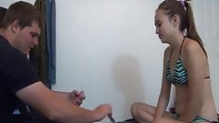two roommates play cards she loses asks for awkward anal sex