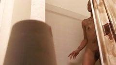 Skinny chick on Hidden cam in shower