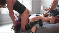 2 Mistress sounding Slave