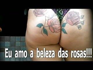 Adrenalynn ass tattoo - Big ass tattoo beach brazil