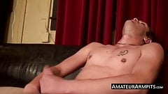 Nothing like grabbing your hairy cock and jerking off