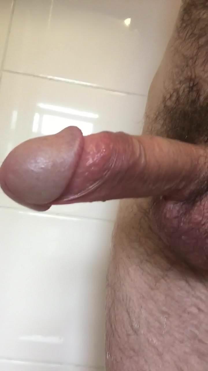 Penis gets hard after shower