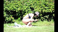 SpyCams Rus Voyeur Public park Flash Girl
