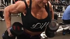 huge fake slutty tits lady huge muscle escort fitness