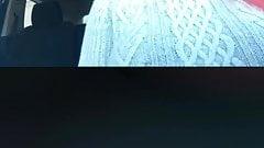 black milf flashing in public on scope