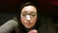 Adorable Girl In Glasses Gets A Facial