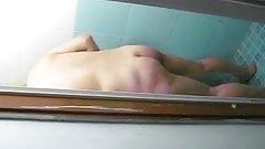 Chinese milf shower