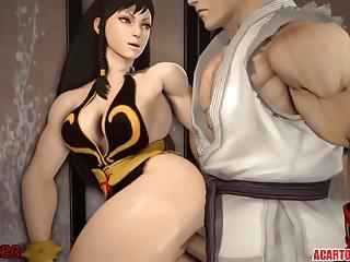 Horny and naughty Chun Li pussy rammed well
