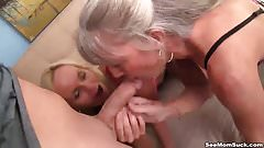 Mature ladies tag-team a dick