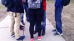 Fat Latin Teen Ass In Tights After School!!!!
