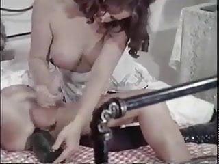 Vintage - She Bottle Fucks his arse with Handjob