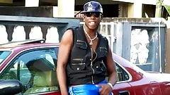 huge jamaican bulge in public