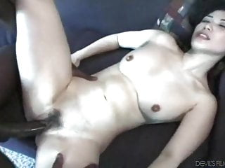 Asian Pale Skin Slut Enjoys Bbc Gangbang