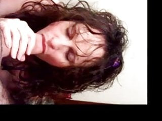 sub slut Mia gagging on a hard cock