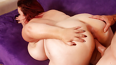 Fat Mature Redhead Lady Lynn Gets Her Plump Pussy Railed