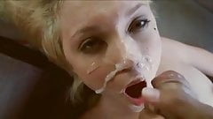 Young skinny blonde fucked in car and facialed
