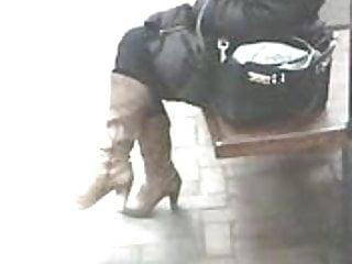 High Heels Cowboy Boots Candid