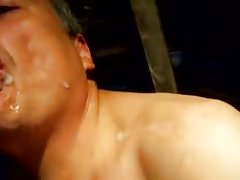 Gay Blowjob Doggie Style Fuck Facial and Cumeating