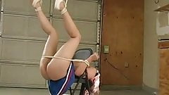 Cheerleader tied to chair