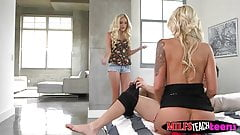 Naomi Woods catches her bf fucking her stepmom Nina Elle