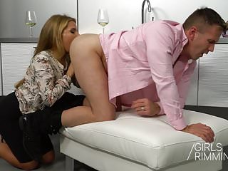 Family Rimjob Girlsrimming The Wife