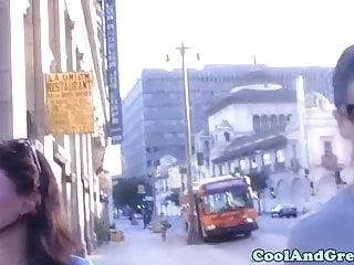 Brooklyn Lee gets huge facial outdoor