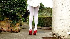 School Uniform With White pantyhose