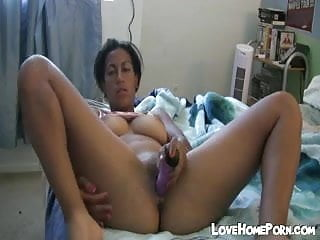 Ex babe was toying her pussy on my bed