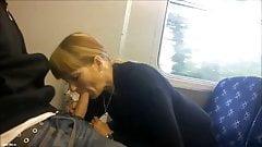 Blowjob in the train