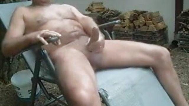 Naked men screwing around