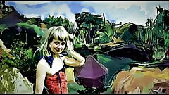EMILIA, 2 foto's, FAME FOR LIFE AND FREE, MOVIE IN PAINT