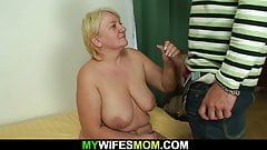 Big tits mother in law rides his cock's Thumb