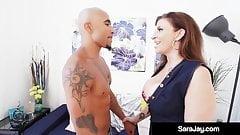 Big Butt Milf Sara Jay Does SexTape Fucking Black Cock!