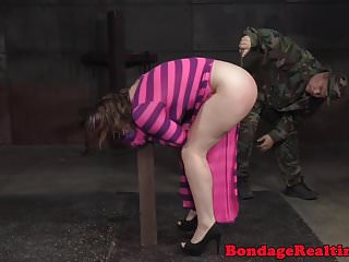 Preview 4 of Heeled bdsm sub toyed while tied by maledom