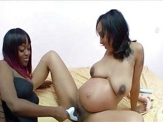 Pregnant Brunette Plays Lesbian Games With Ebony Usb