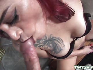 Preview 3 of Mature casting redhead TS gets cum in mouth