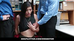Shoplyfter- Hipster Shoplyfter Caught between two cocks