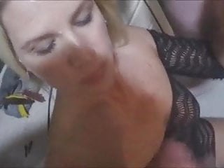 Wife Loves To Rub Cocks Togrhter And Make Them Cum