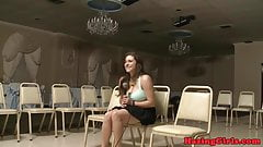 Strapon fucked lesbians hazed by sorority