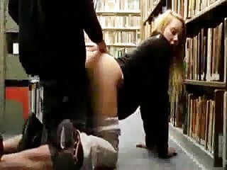 Public library suck and hard fuck from behind