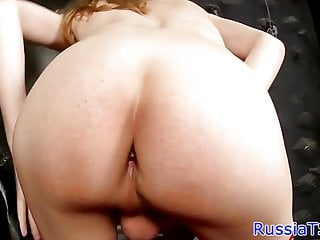 Preview 2 of Busty russian shemale toying her tight ass
