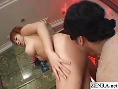 Curvy big butt tan Japanese gyaru erotic striptease